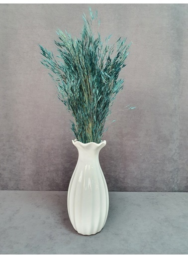 Kuru Çiçek Deposu Kuru Çiçek Yulaf Otu Demeti 50 Cm Yeşil   Mavi
